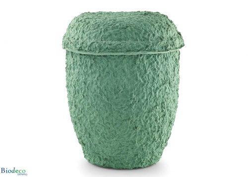 De biologisch afbreekbare zee-urn Cellulose Zeegroen,voor een asbijzetting in het water