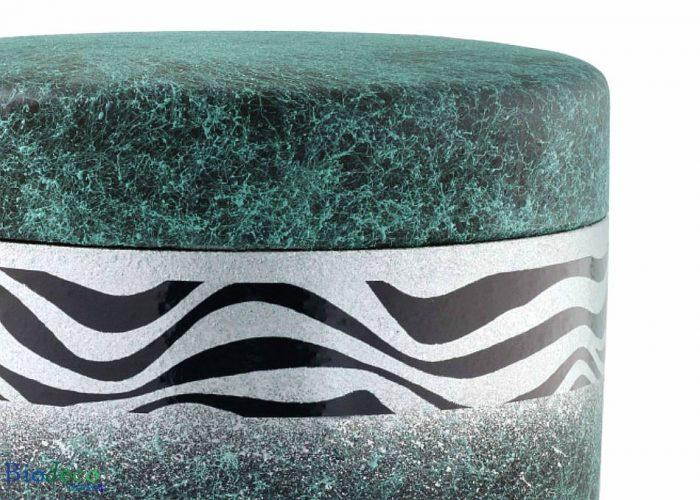 Detail van de biologisch afbreekbare zee-urn Zeegroen, voor asbijzetting in het water