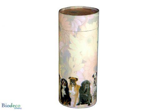 Strooikoker Honden in de standaard maat, voor de crematie-as van een hond