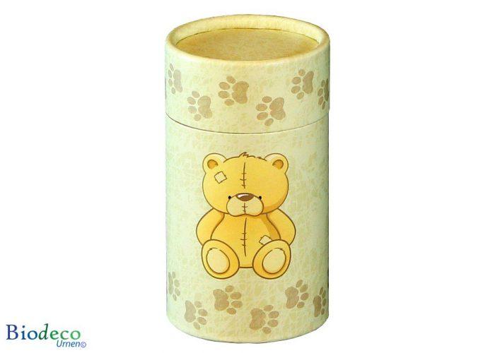 Mini strooikoker Teddybeer, voor het verstrooien van een kleine hoeveelheid crematie-as