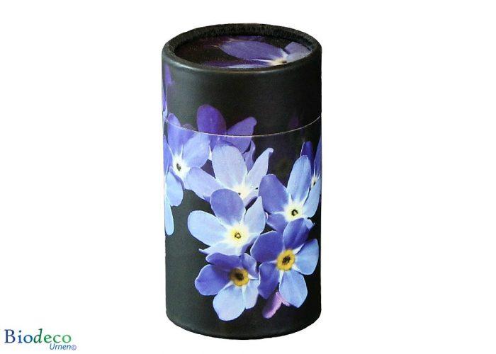 Mini strooikoker Vergeet-mij-nietje, voor het verstrooien van een kleine hoeveelheid crematie-as