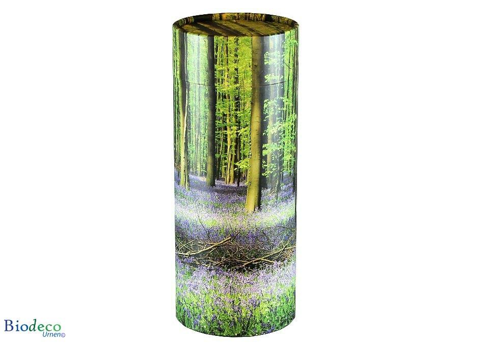 Strooikoker Bluebell Forest in de standaard maat, voor de crematie-as van een volwassen persoon