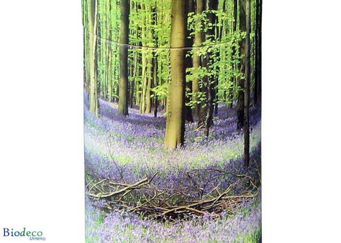 Detail van de strooikoker Bluebell Forest, voor het verstrooien van crematie-as