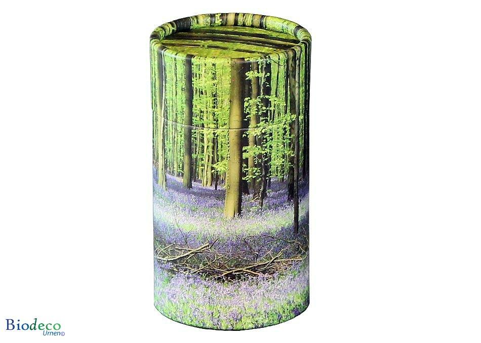 Mini strooikoker Bluebell Forest, voor het verstrooien van een kleine hoeveelheid crematie-as