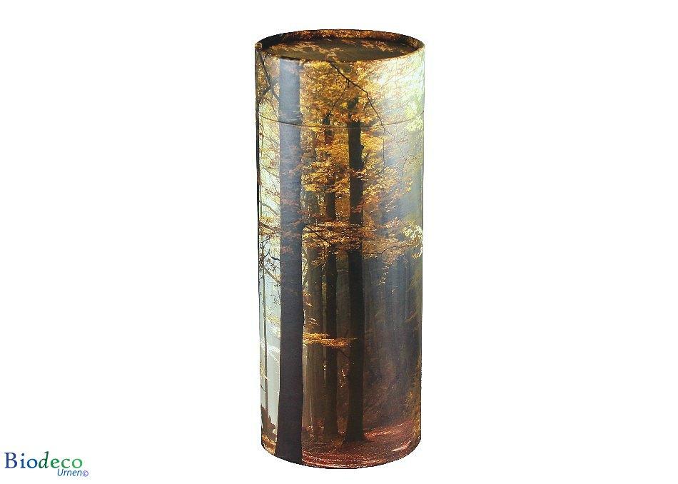 Strooikoker Herfst in de maat standaard, voor de crematie-as van een volwassen persoon
