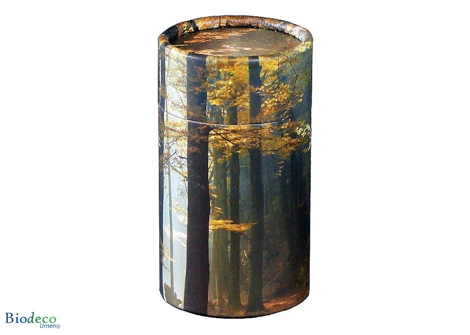 Mini strooikoker Herfst, voor het verstrooien van een kleine hoeveelheid crematie-as