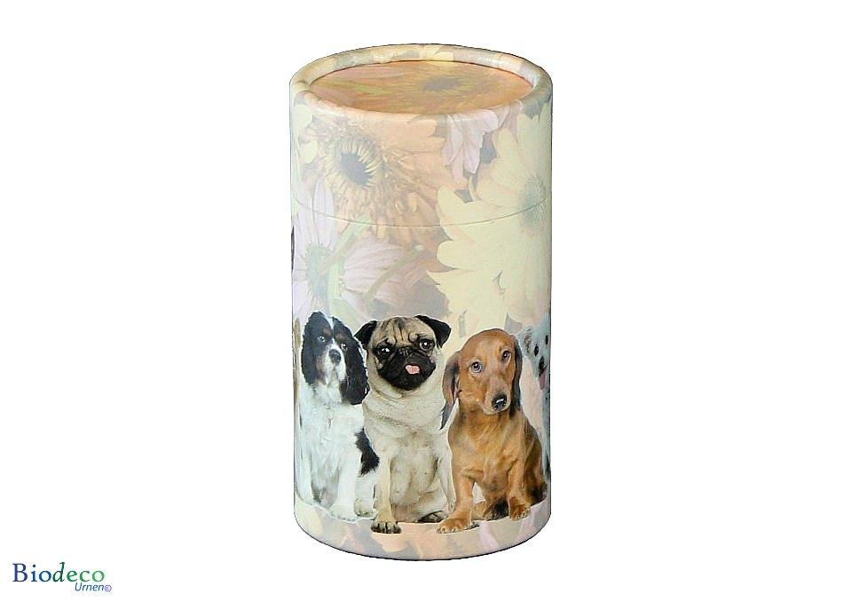 Mini strooikoker Honden, voor het verstrooien van een kleine hoeveelheid crematie-as