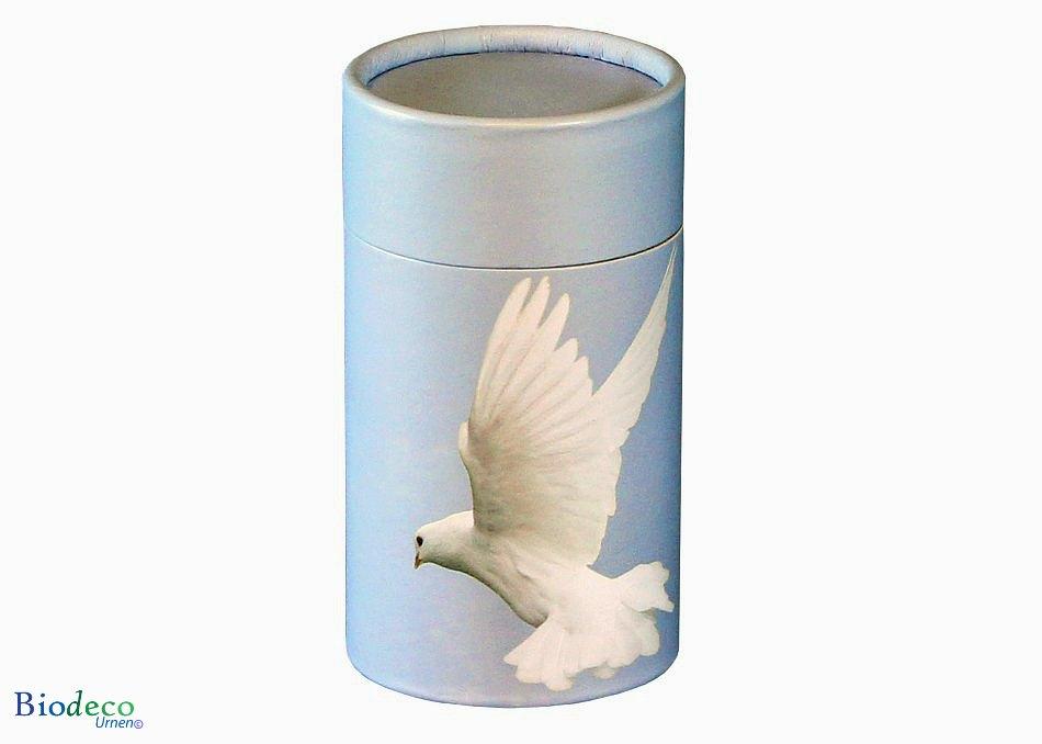 Mini strooikoker Duif, voor het verstrooien van een kleine hoeveelheid crematie-as