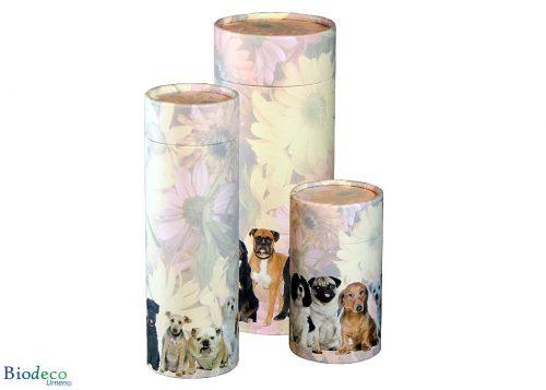 Strooikoker Honden, in drie maten. Voor het verstrooien van crematie-as