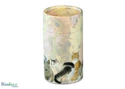 Strooikoker katten in de standaard maat, voor de crematie-as van uw geliefde kat