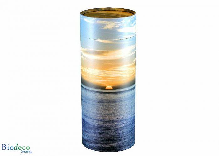 Strooikoker Zonsondergang in standaard formaat, voor het verstrooien van crematie-as
