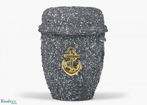 De biologisch afbreekbare zee-urn Graniet geproduceerd van cellulose, voor een asbijzetting op zee
